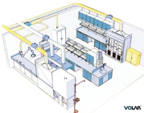 通常可在进口处设水池台和干燥台,便于实验室器皿的清洗.